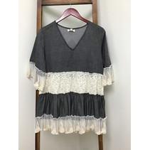 V-Neck Chambray long Tunic/Dress