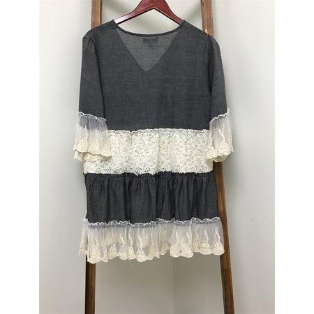 Velzera V-Neck Chambray long Tunic/Dress