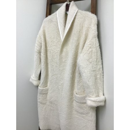 Pol Mohair long open front cardigan w/pockets