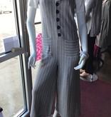 Easel Rib Kit Grey Button Down Romper