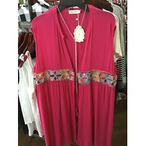 Sleeveless cardigan cover-Up  Plus size