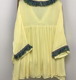 Velzera V-Neck Tunic/Dress Fringe Detail