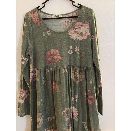 Kyemi Olive Floral Dress