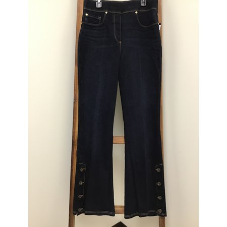 Nygard Wide Bell Jeans w/Buttons up side of bell bottom