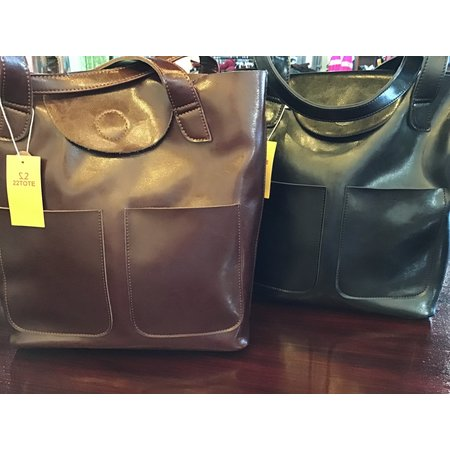 22Tote Leather Tote- 2 Pocket 70599