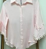 Joh Cotton gauze 3/4  Bell Sleeve W fringe