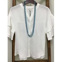 Cotton Gauze Bell Short sleeve Button Down