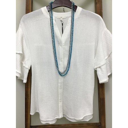 Joh Cotton Gauze Bell Short sleeve Button Down