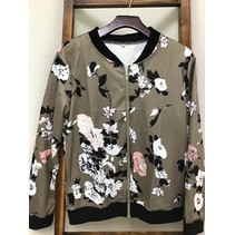 Jacket Floral Poly/Spandex