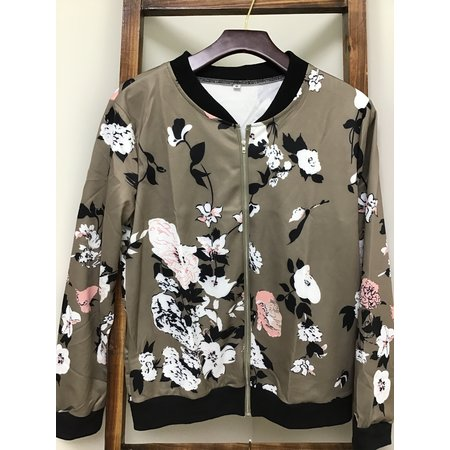 MOUNTAIN VALLEY TRADING Jacket Floral Poly/Spandex