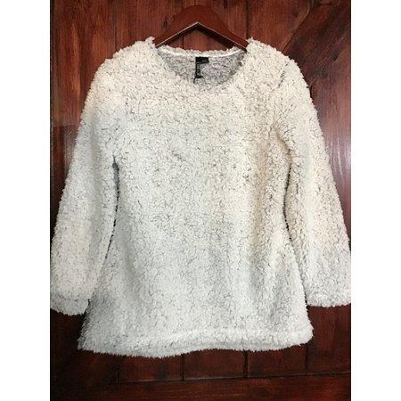 Ethyl Fuzzy Heather Blue Sweatshirt