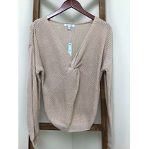 Long Sleeve Sweater W/Front Twist Detail