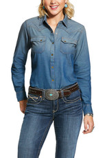 Ariat Chemise Ariat blue velvet
