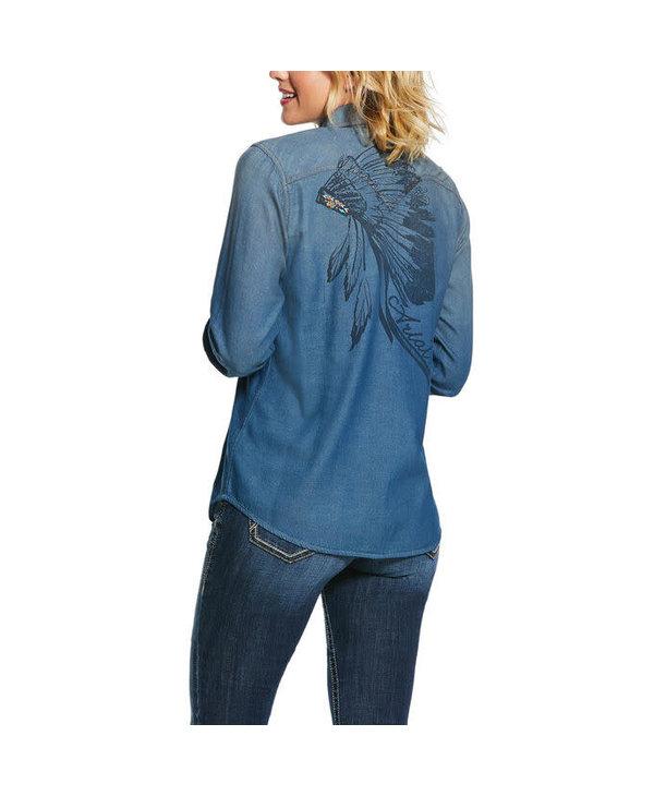 Chemise Ariat blue velvet