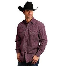 Roper Chemise Stetson rouge geo pour homme