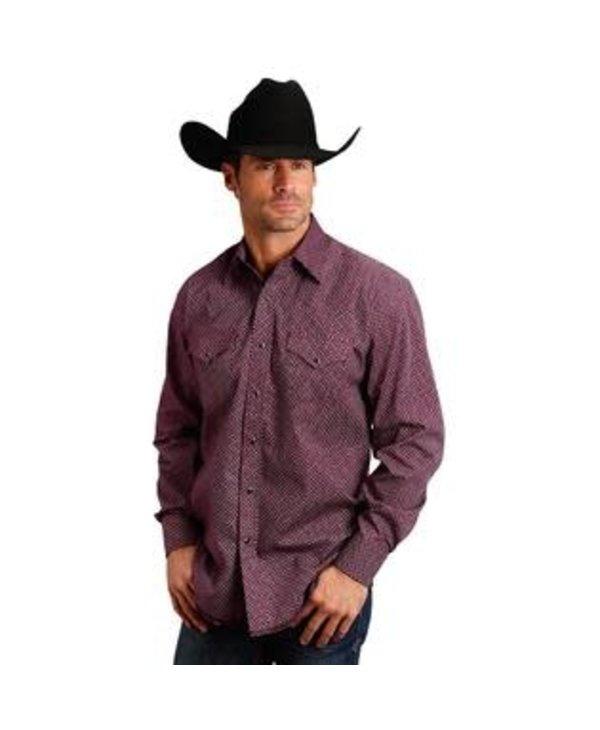 Chemise Stetson rouge geo pour homme