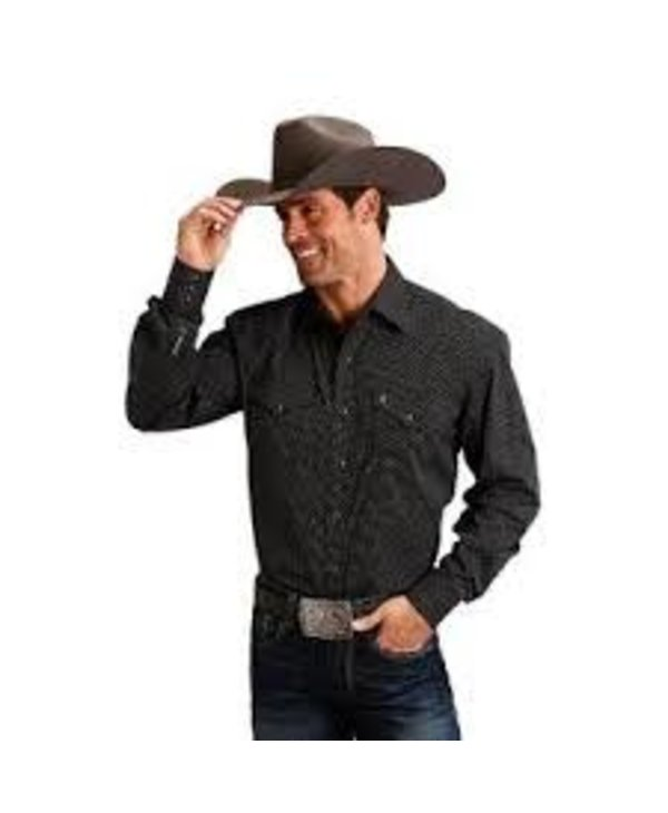 Chemise Roper noir & blanche pour homme