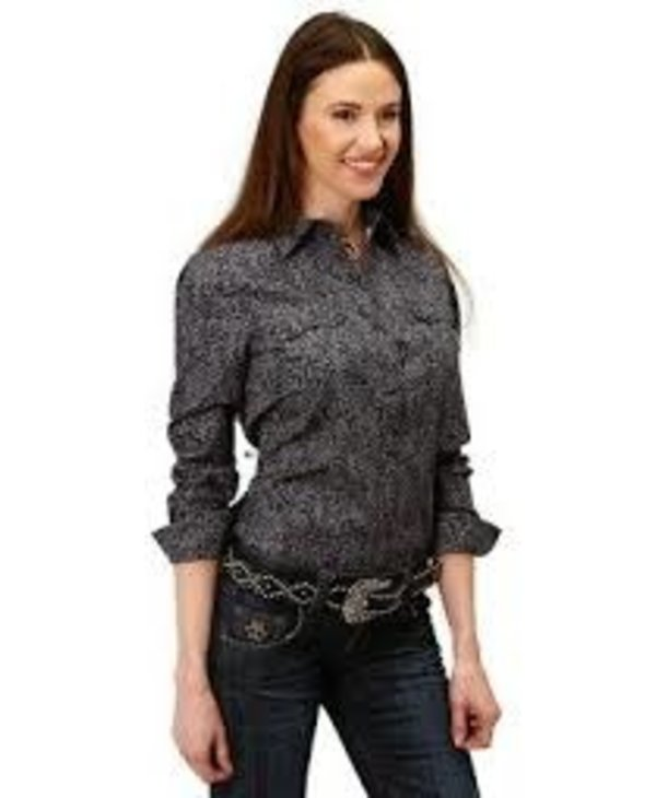 Chemise noir & beige pour femme Roper