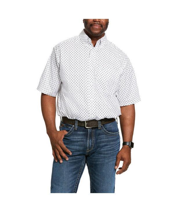 Chemise Ariat blanche avec longhorn
