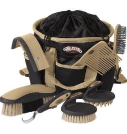 Weaver Sac + kit de brosse Weaver - noir/tan