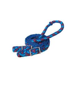 Weaver Reins de baril tressée - Blue/mauve