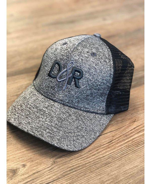 Casquette D&R grise logo gris