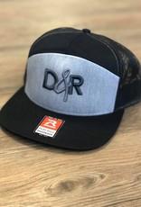 Casquette D&R grise logo gris palette droite