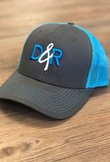 Casquette D&R turquoise logo turquoise