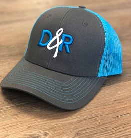 Casquette D&R turquoise logo turquoise