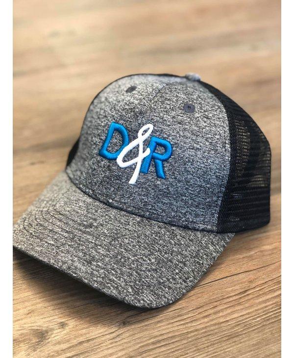 Casquette D&R logo turquoise