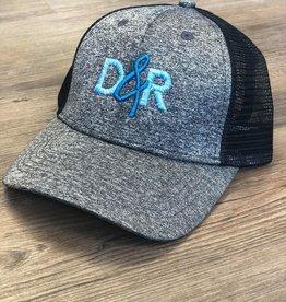Casquette D&R grise logo turquoise