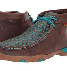Cavalier Soulier Twisted X brun/turquoise - 9