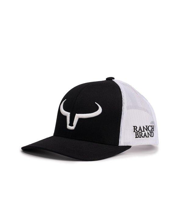 Casquette Ranch Brand-Noir/Blanc