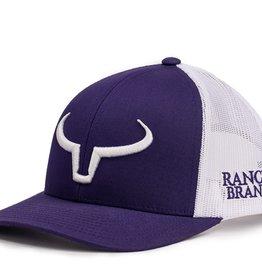 Casquette Ranch Brand-Mauve/Blanc