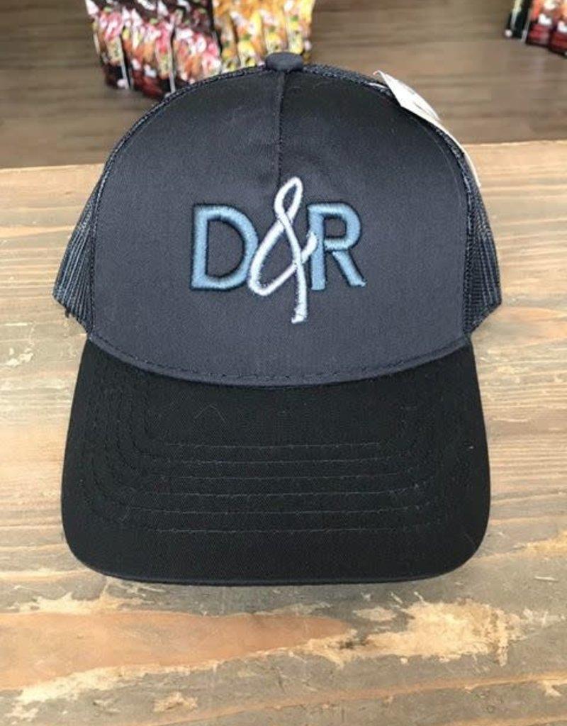 Casquette D&R noir logo gris poney tail