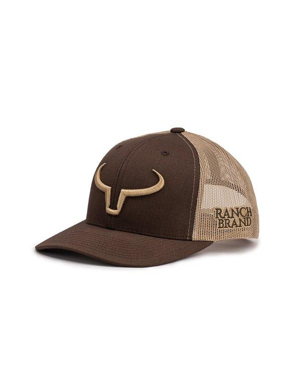 Casquette Ranch Brand-Brune/Beige