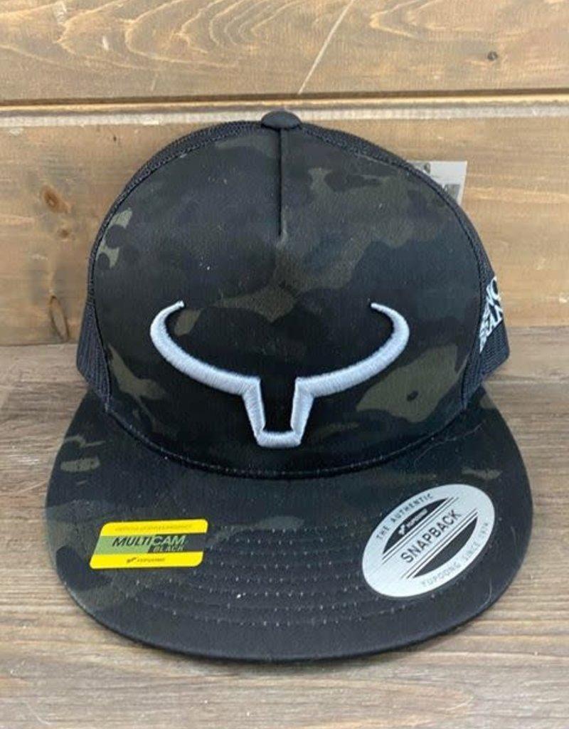Casquette Ranch Brand palette droite-Noir/Camo