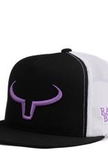 Casquette Ranch Brand palette droite-Noir/blanc/mauve