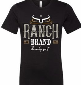 T-Shirt Ranch Brand orange/noir pour homme