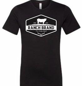 T-Shirt Ranch Brand noir/blanc pour homme