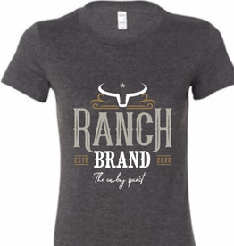 T-Shirt Ranch Brand gris/orange pour femme