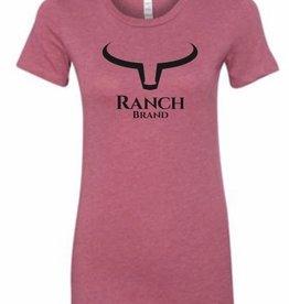 T-Shirt Ranch Brand rose pour femme