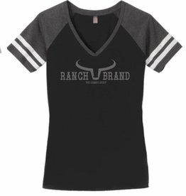 T-Shirt Ranch Brand noir/gris/blanc pour femme