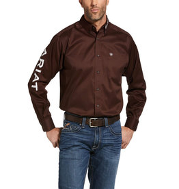 Chemise team logo Ariat Coffee