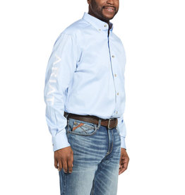 Chemise team logo Ariat Oxford Blue