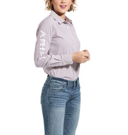 Ariat Team Kirby LS Shirt-Imperial Violet Stripe