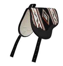 Bareback pad weaver  noir/tan
