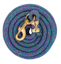 laisse weaver  mosaic mauve/bleu/vert lime