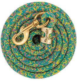 Laisse weaver mosaic turquoise/rose/jaune