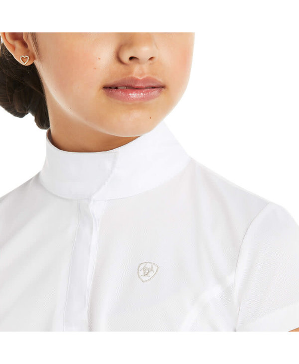 Aptos show shirt Ariat blanc enfant